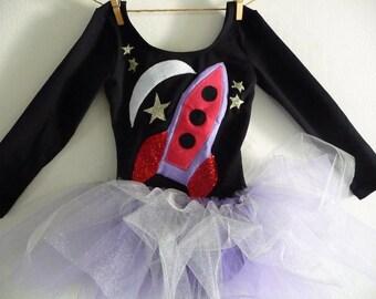 SPACESHIP TUTU - Spaceship Leotard - Astronaut Tutu - Space Birthday Party - Astronaut Costume - Birthday Tutu