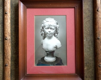 Haunting Photograph - Framed Photograph - Sculpture of a Young Girl