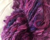 Love Letter 1 Lincoln wool locks yarn 44 yards chunky curly bulky yarn art fiber weaving felting needlefelt dread purple plum felting trim