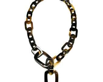 Horn Chain Necklace - Q9819