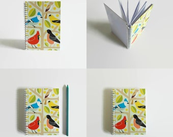 Birds - Notebook Spiral Bound - 4x6in