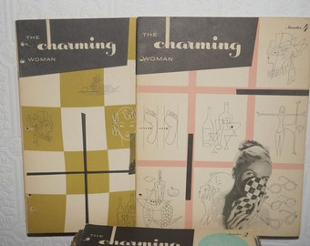 1950's Helen Fraser charming women 5 booklet guide set Vintage 1950s The Charming Woman Beauty and Charm Course Book