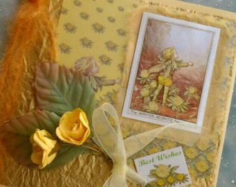 The Winter Aconite Fairy Birthday or Greetings Card -Best Wishes