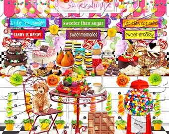 American Girl Doll Kit's Sweet Candy Shoppe Background Scene american girl doll house accessories furniture