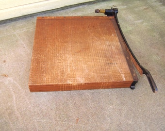 Free Shipping Large Wooden paper Cutter Ingento no 6