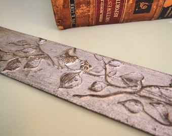 Free Shipping Vintage Metal Printers panel embosser letterpress with leaves and birds nice floral decoration