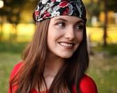Women's Funky Retro Floral Print Bandana Headwrap Headbands