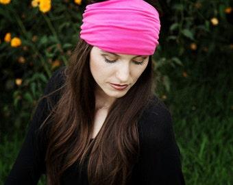 Pink Headband, Womens, Colorful Head Bands, Yoga Headband, Workout Hair Accessories, Stretch Headband, Extra Wide Headband, Fashion Hairband