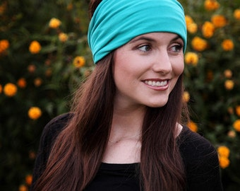Womens Headwraps / Womens Head Wraps / Tube Headband Head Band / Headband Wrap / Large Headband / Big Headband / Thick Head Band / Hairbands