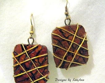 Gourd Wired Tic-Tact Earrings