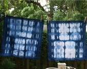 Set of 4 cotton shibori napkins