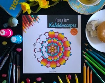 Colour Bliss: Kaleidoscopes - Colouring Journal For Fun and Relaxation - Coloring Book For Adults