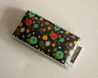 Mini Card Holder - Small Floral / Dear Sukie, mini card, moo card, small wallet, snap, vinyl, paper, cute wallet, flowers, pretty, floral