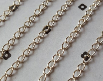 5 Ft. Silver plated chain 3.5x5mm