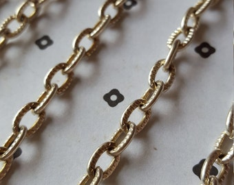 5 Ft. Silver plated chain 6x9mm