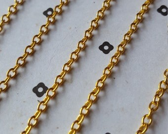 5 Ft. Gold plated chain 2.5x3mm