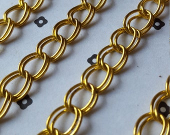 5 Ft. Gold plated chain 9x10mm