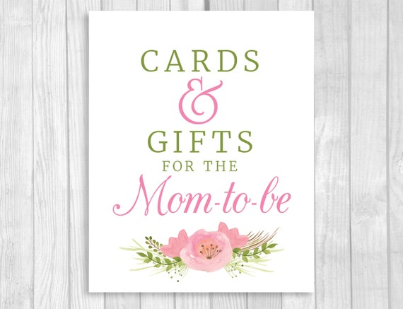 printable cards and gifts for the mom to be 8x10 baby shower sign with