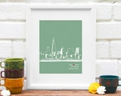 Chicago Art Personalized City Skyline Print Wedding Decor Personalized Engagement Gift City Skyline Modern Home Decor Guestbook - ANY City