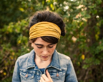 Caramel Corduroys Garlands of Grace headcovering headband headwrap