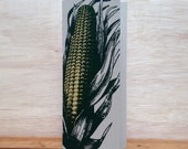 Corn on Cob Greeting Cards Farmers Market Letterpress Card Pack of 8