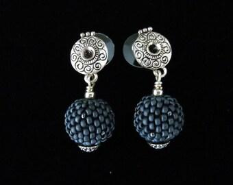 Beaded Earrings, Beaded Beads, Silver Earrings, Casual Earrings, Boho Earrings, Seed Bead Earrings