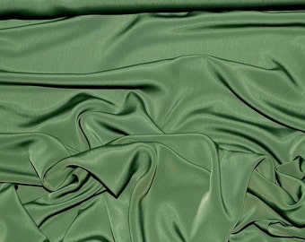 "Peach Skin faille fabric Sage green  .. soft, drapes, blouses, dresses, formal wear, home decor, crafts .. 58 "" wide"