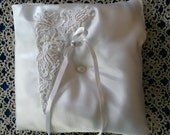 Satin Ringbearer Pillow with Venice Lace