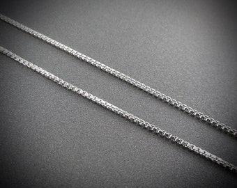 Sterling Silver Box Chain Assorted Lengths