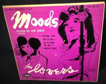 Lew White Moods 45 RPM Record