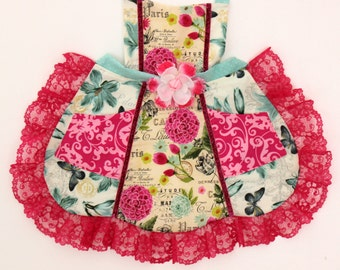French Floral Apron