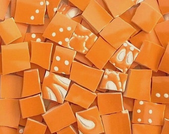 Mosaic Tiles--Orange Explosion---100 Tiles--Sale