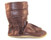 Soft Sole Brown Leather Baby Boots 18 to 24 Month