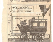 Vintage 60's-70's Clip N Save Newspaper Clipping Auto Album Tad Burness 1900 Woods Electric Horseless Carriage