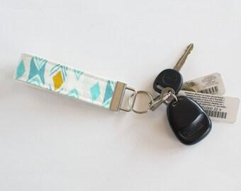 August Diamond Back Fabric Keychain Fob