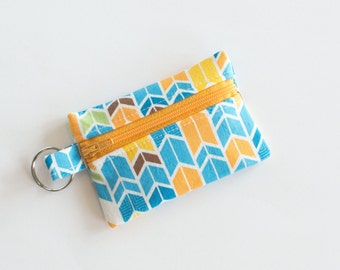Small Zippered Pouch, Credit Card Holder, Business Card Holder, Arrows