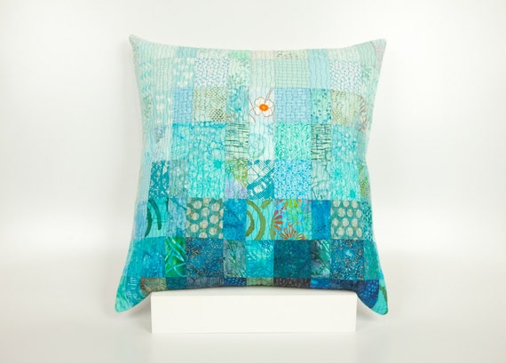 Modern Patchwork Pillow : Quilted Pillow Modern Patchwork Pillow Quilted 20 x 20