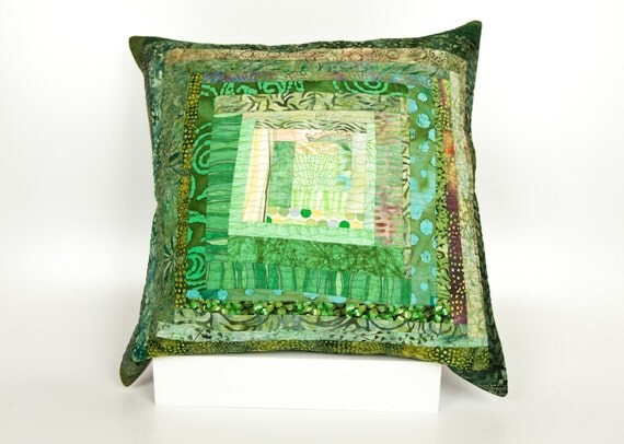 Modern Patchwork Pillow : Quilted Pillow Modern Patchwork Pillow Quilted 20 by btaylorquilts