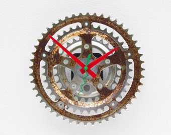 Recycled Bike Crank Gear clock