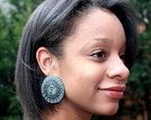 Sgraffito Enamel Earrings-Basket Weave