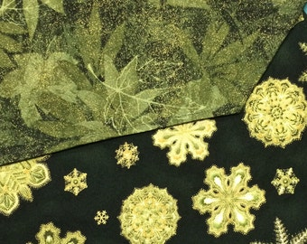 Table Runner Fall Leaves / Christmas Snowflakes Reversible