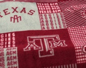 Texas A&M fleece fabric - remnant