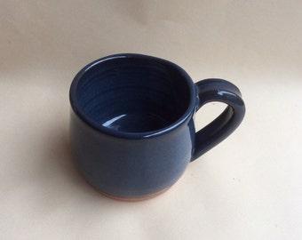 BLUE, handmade mug, ceramic, pottery, ready to ship