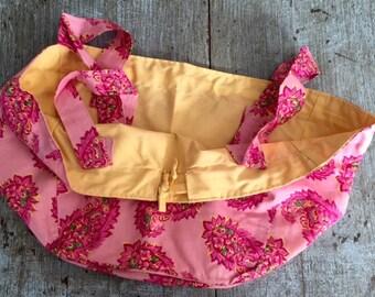 Pink and Yellow Cruiser Reversible Basket Liner