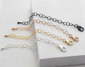 Necklace Extender | Chain Extender, Necklace Adjuster, Layering Extender, Layering Necklace, Layered Necklace, Silver, Gold, Rosegold