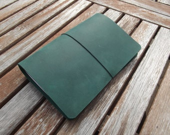 Extra Wide Pocket Sized Traveller's Notebook - Fauxdori - Midori Style - Field Notes Cover - Choose from 18 Colours