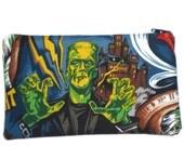 Frankenstein Monster Makeup Bag Zipper Pouch Gadget Bag Clutch Vampire Dracula