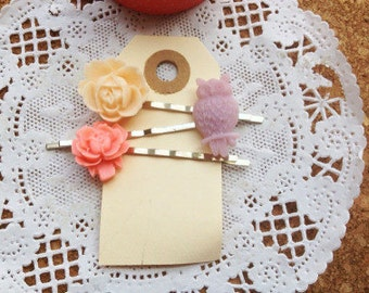 flower hair pin bobby pin set  monthly subscription flower girl and bridesmaid gift