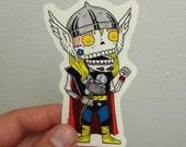 Thor Calavera Clear Die-cut Vinyl Sticker Day of the Dead