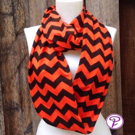 orange black chevron scarf scarves princeton